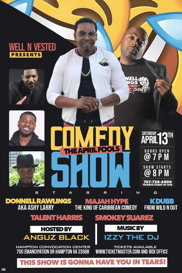 None -  Win 4 tickets to April Fools Comedy Show!
