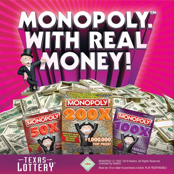 None - Win Monopoly Texas Lottery Scratch Off Tickets  & Jurrassic World Live passes!