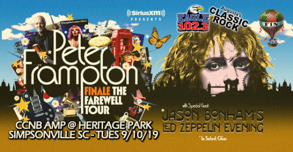 None - Win tickets to Peter Frampton - FINALE Tour! 9/10 in Simpsonville!