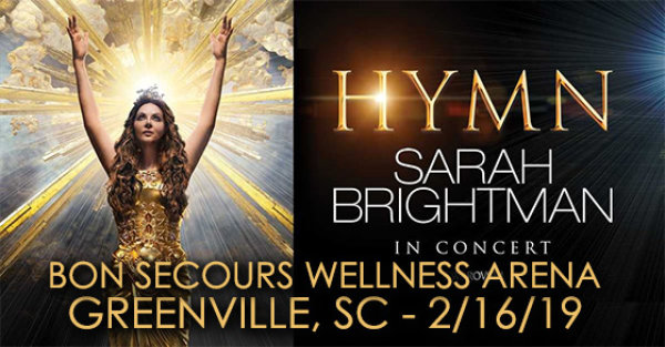 None - See Sarah Brightman In Greenville!