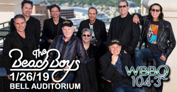 See The Beach Boys at Bell Auditorium on 1/26/19!