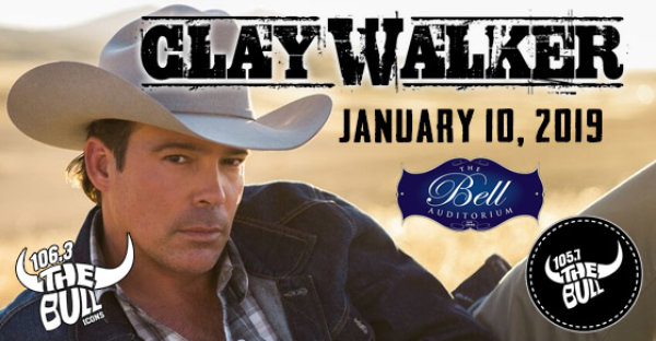See CLAY WALKER at the Bell on 1/10/19!