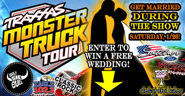 Win a Wedding at the Traxxas Monster Truck Tour 1/26!
