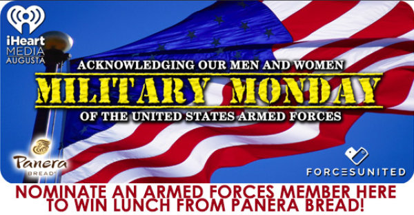 Nominate an Armed Forces member for MILITARY MONDAY!