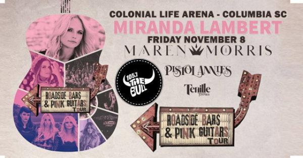 None - Miranda Lambert + Friends In Columbia on 11/8!