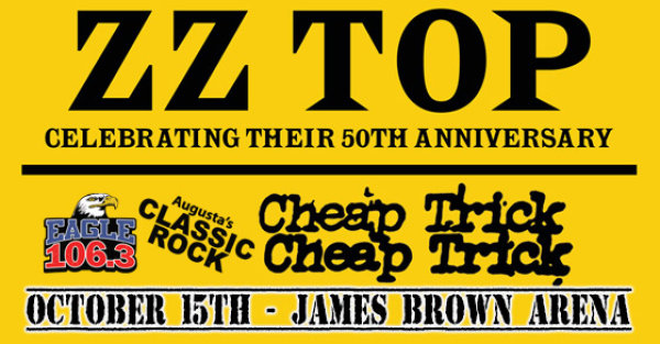 None - See ZZ Top + Cheap Trick at the JBA on 10/15!