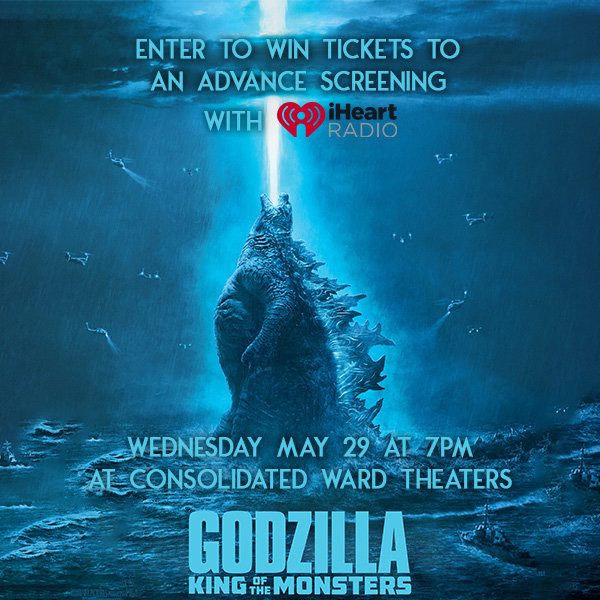 None - Enter to win tix to the Godzilla: Kings of the Monsters Advanced Screening