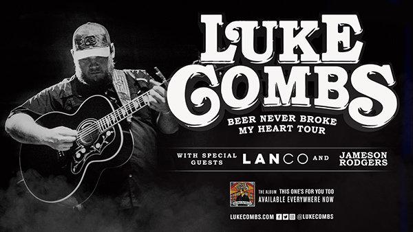 "None - Luke Combs ""Beer Never Broke My Heart Tour"" Tickets Greensboro"