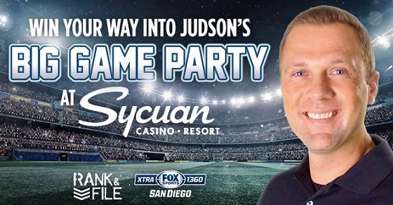 Watch the Big Game with Judson at Sycuan Casino Resort