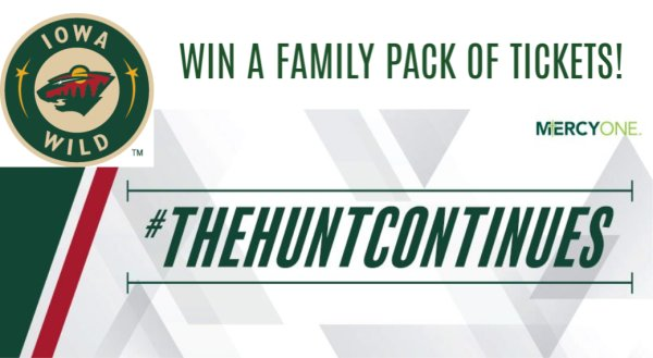 Win a Family Pack of Iowa Wild Tickets!