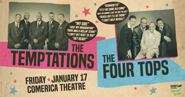 None - Win tickets to see The Temptations & The Four Tops!