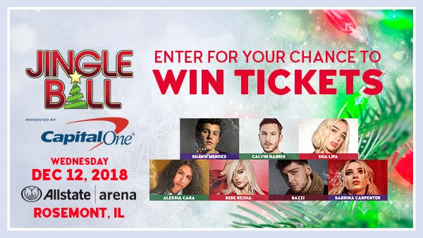 None - Win tickets to Jingle Ball Chicago